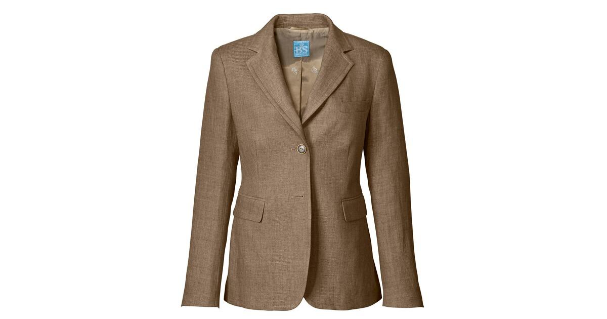 brigitte von sch nfels blazer beige blazer janker bekleidung damenmode mode online. Black Bedroom Furniture Sets. Home Design Ideas