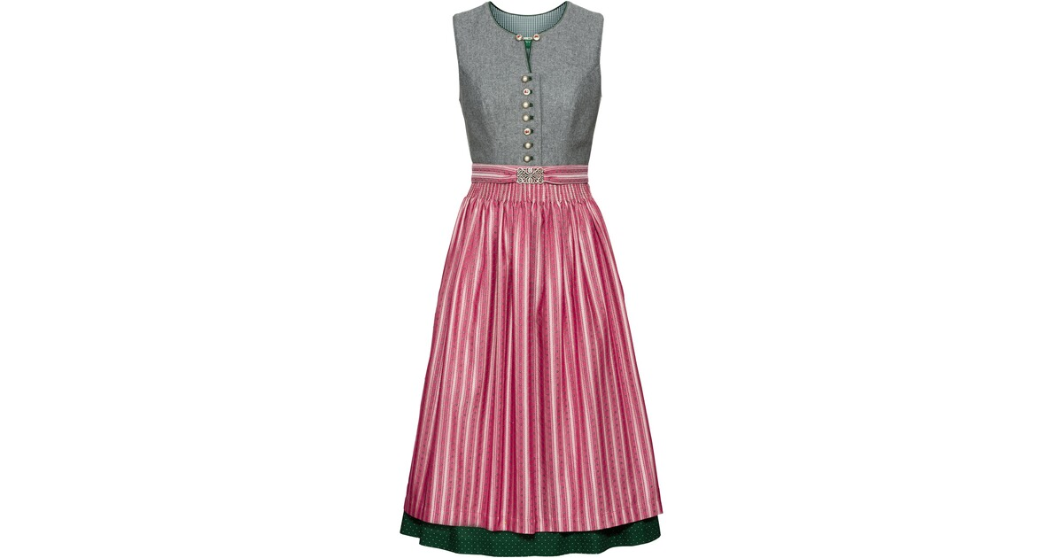 country line midi lodendirndl grau rosa dirndl kleider bekleidung damenmode mode. Black Bedroom Furniture Sets. Home Design Ideas
