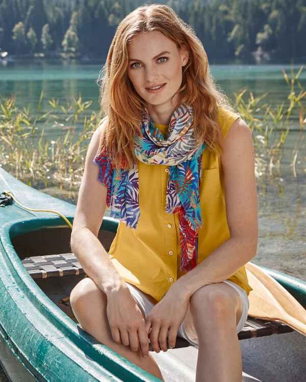 brigitte von sch nfels rmellose bluse gelb blusen bekleidung damenmode mode online. Black Bedroom Furniture Sets. Home Design Ideas
