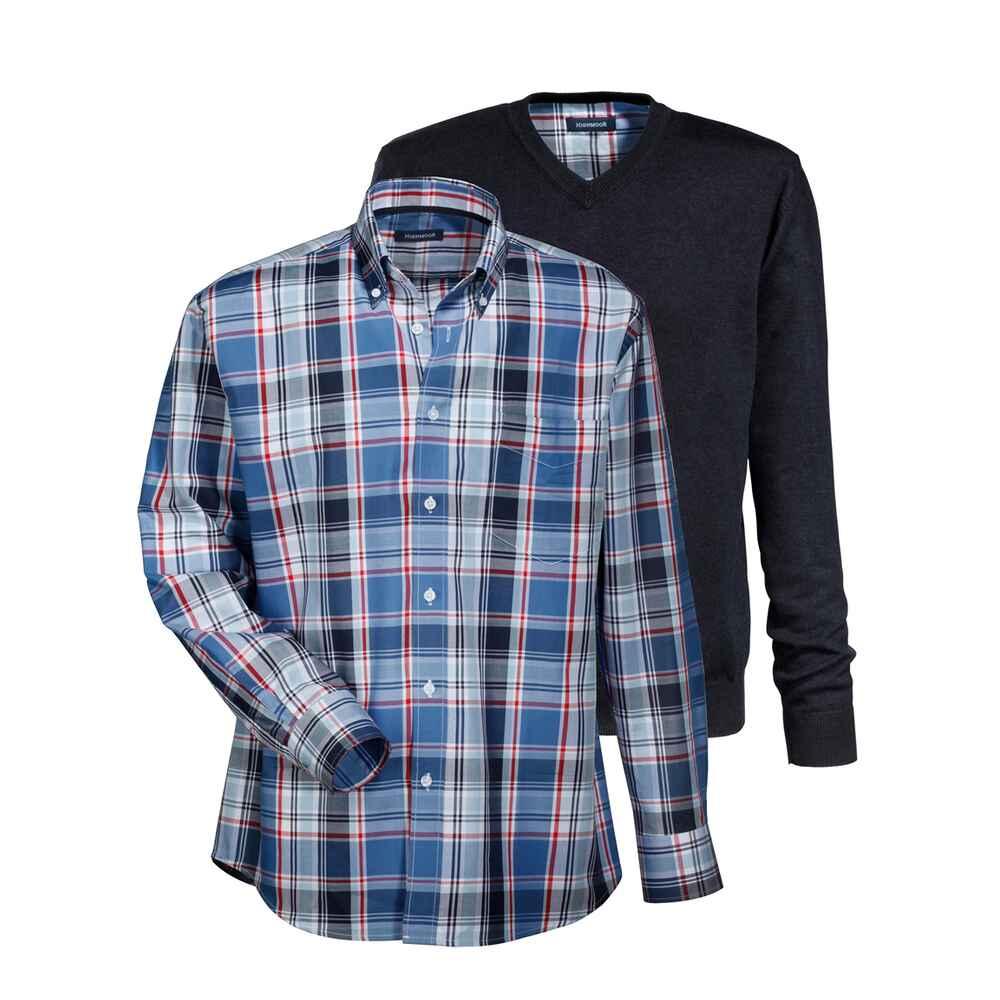 highmoor set pullover hemd marine pullover bekleidung herrenmode mode online shop. Black Bedroom Furniture Sets. Home Design Ideas