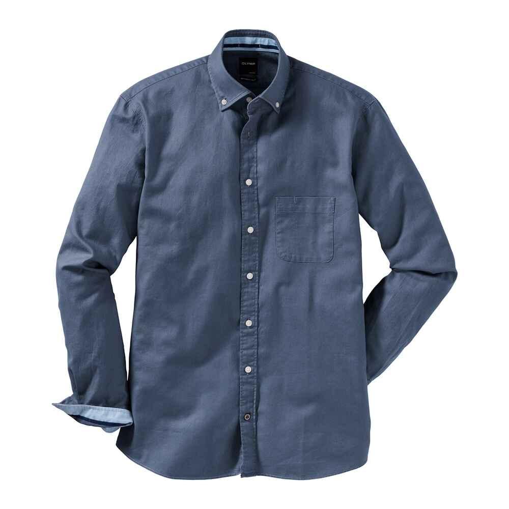 olymp casual hemd blau hemden bekleidung herrenmode mode online shop. Black Bedroom Furniture Sets. Home Design Ideas