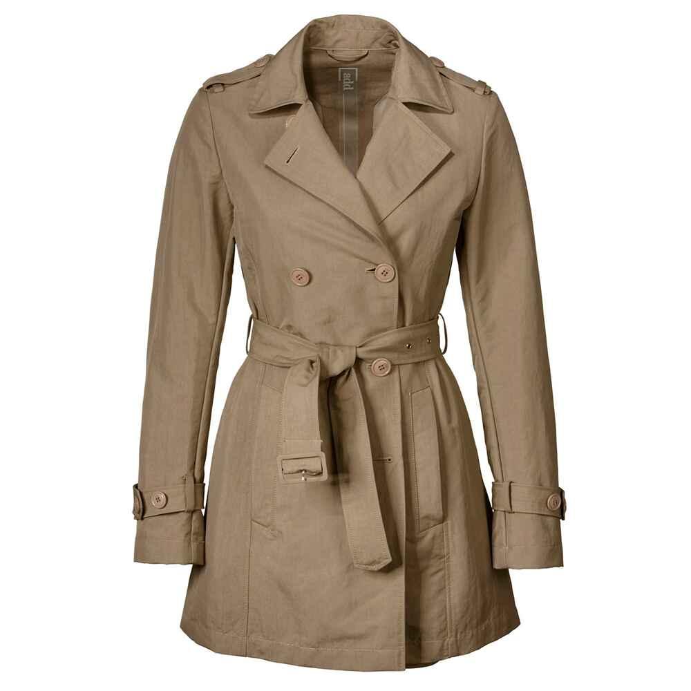 add kurz trenchcoat beige m ntel bekleidung damenmode mode online shop. Black Bedroom Furniture Sets. Home Design Ideas