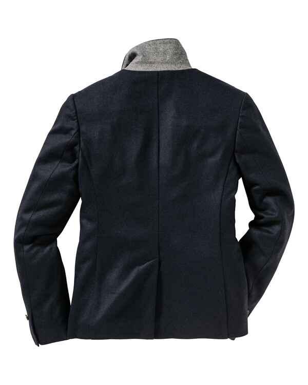brigitte von sch nfels jersey blazer dunkelblau grau blazer janker bekleidung. Black Bedroom Furniture Sets. Home Design Ideas