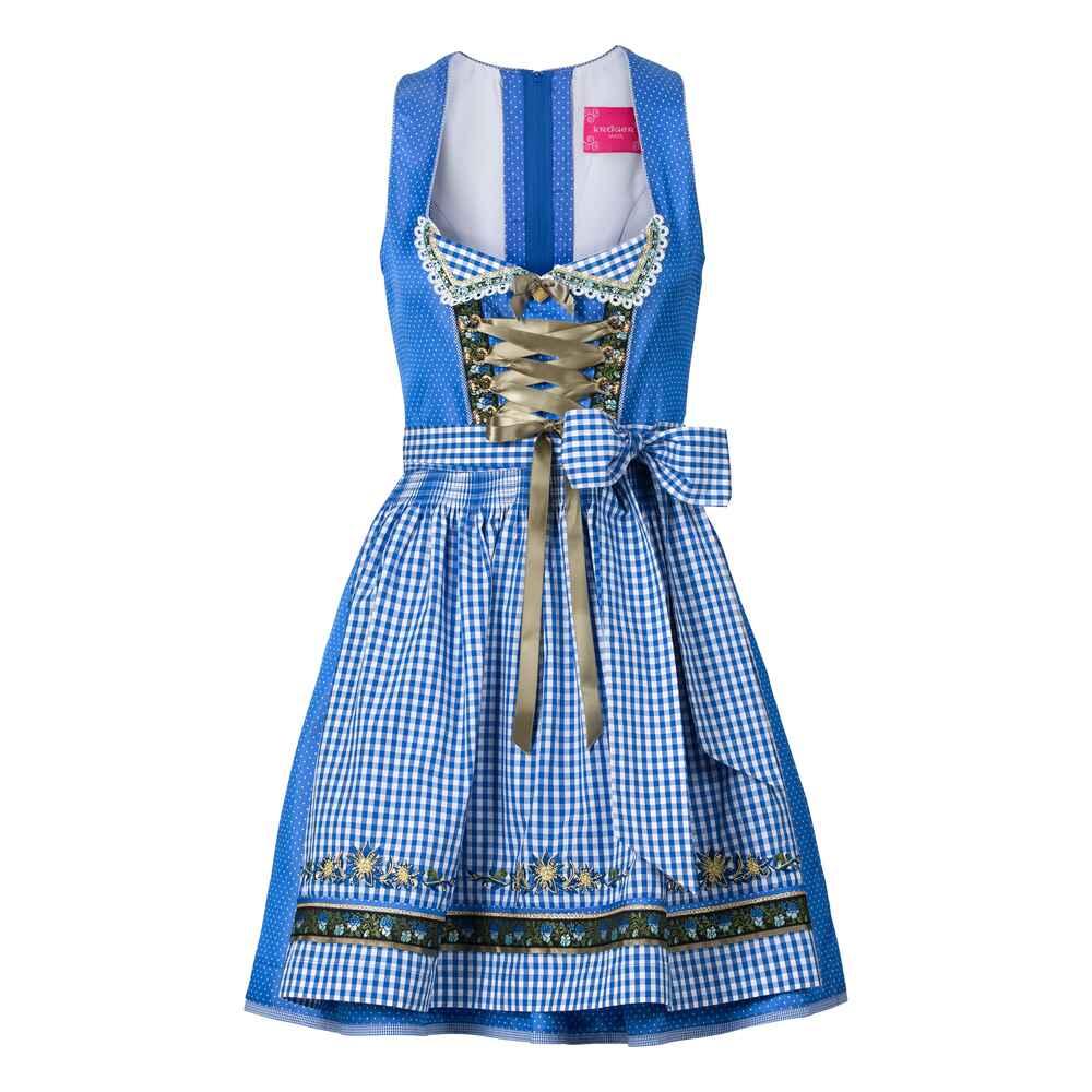 kr ger madl midi dirndl blau dirndl kleider bekleidung damenmode mode online shop. Black Bedroom Furniture Sets. Home Design Ideas