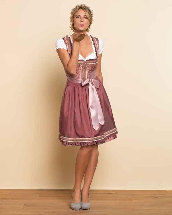kr ger madl midi jacquarddirndl dornr schen rosa dirndl kleider bekleidung damenmode. Black Bedroom Furniture Sets. Home Design Ideas