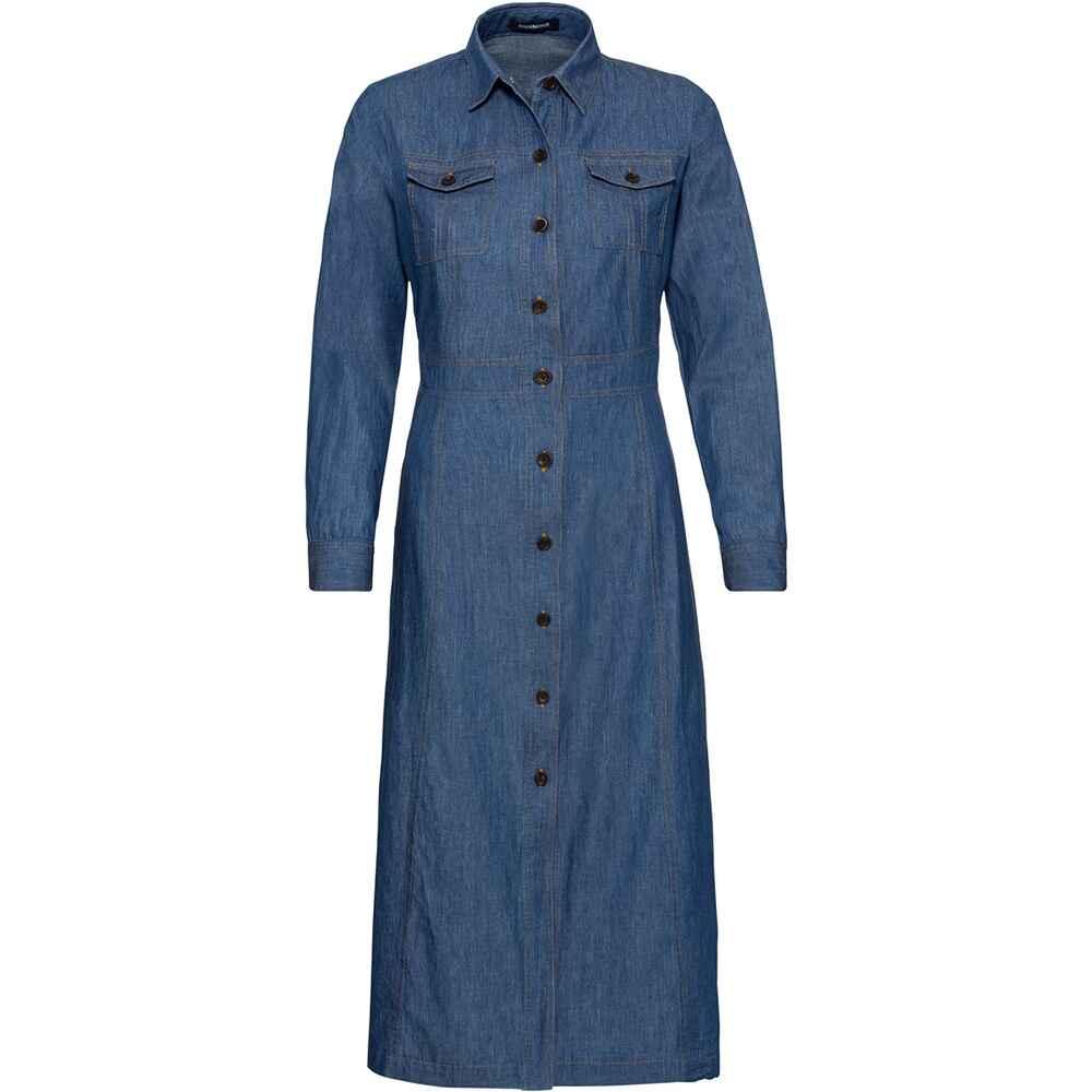 highmoor langes jeanskleid blau  dirndl  kleider