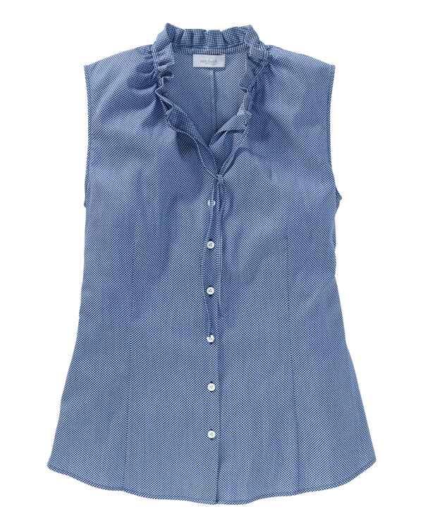 van laack bluse anneli blau blusen bekleidung damenmode mode online shop. Black Bedroom Furniture Sets. Home Design Ideas