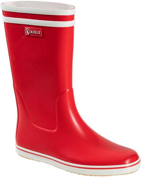 32400f43bd6dde Aigle Gummistiefel Malouine BT (Rot Weiß) - Damenschuhe - Schuhe ...